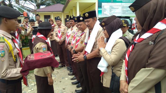 Kepala MAN 2 Merangin sambut Tim Penilai Kwartir Daerah Pramuka Provinsi Jambi