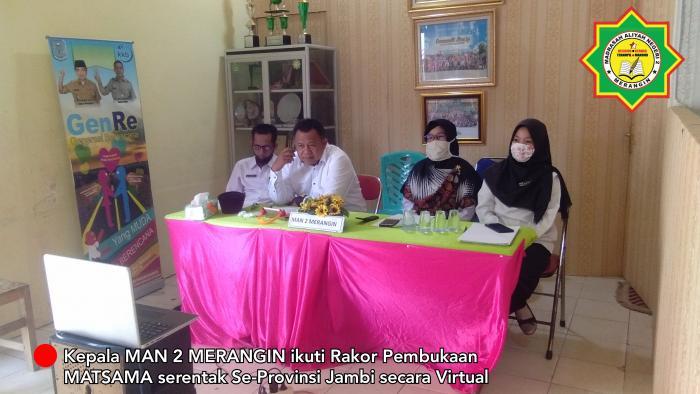 Kepala MAN 2 merangin ikuti Pembukaan MATSAMA serentak se-Provinsi Jambi secara virtual