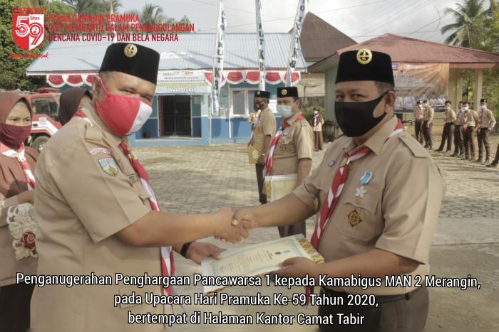 Kamabigus MAN 2 Merangin terima Penghargaan Pancawarsa Gerakan Pramuka